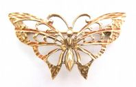 Vintage 9ct Gold Butterfly Brooch.